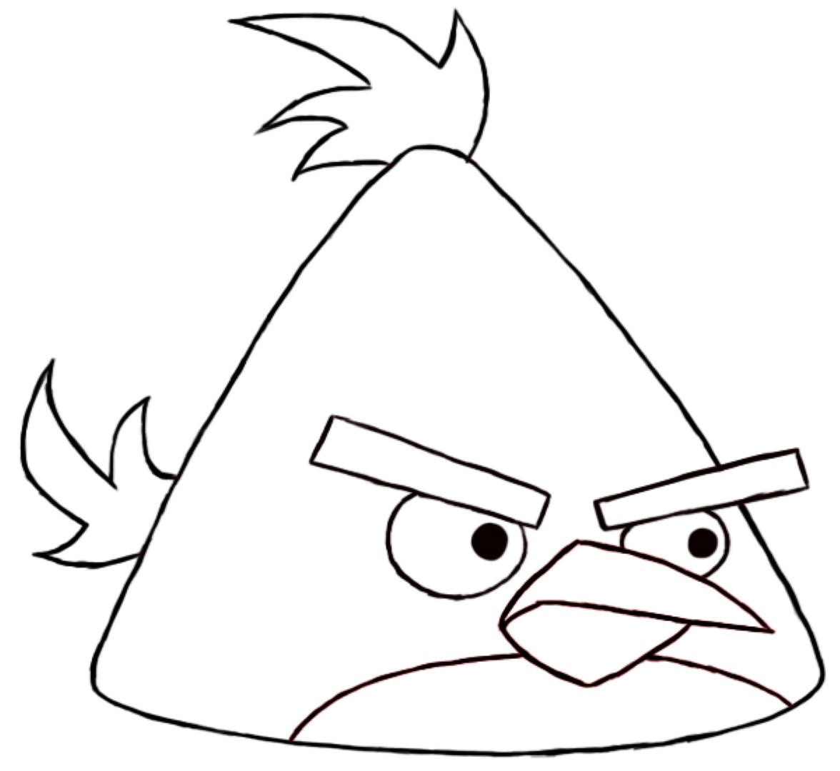 Free Coloring Pages Of Draw Angry Birds Angry Birds Coloring Pages For
