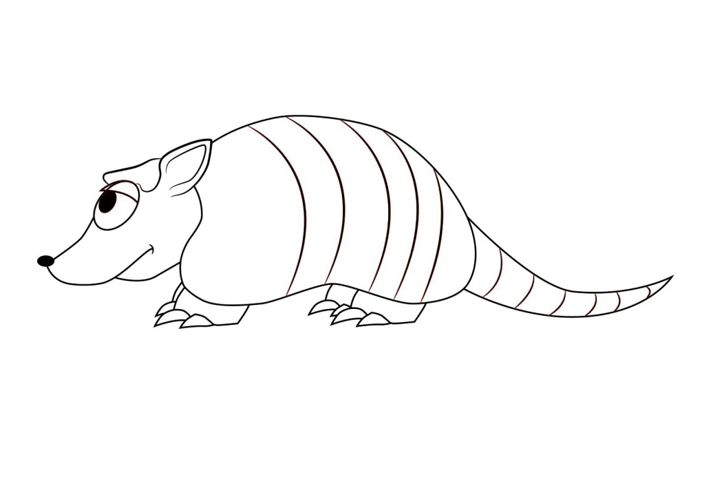 animal coloring pages for kids armadillo coloring page nine banded free printable