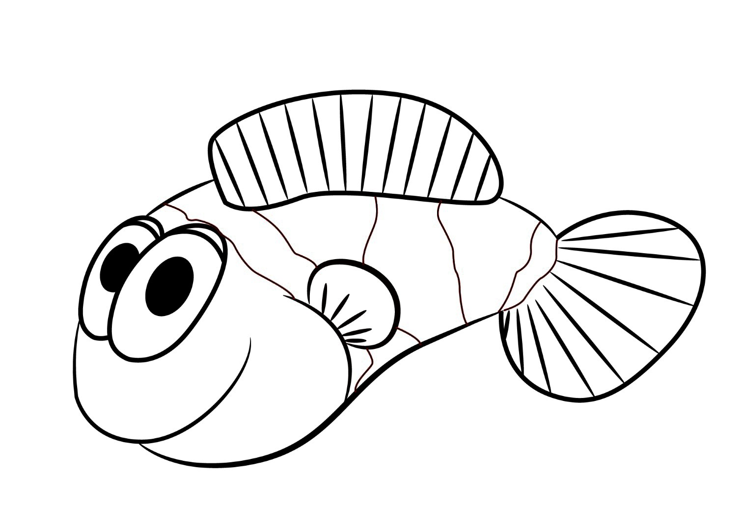 Coloring Pages Clown Fish Coloring Page Breadedcat Free