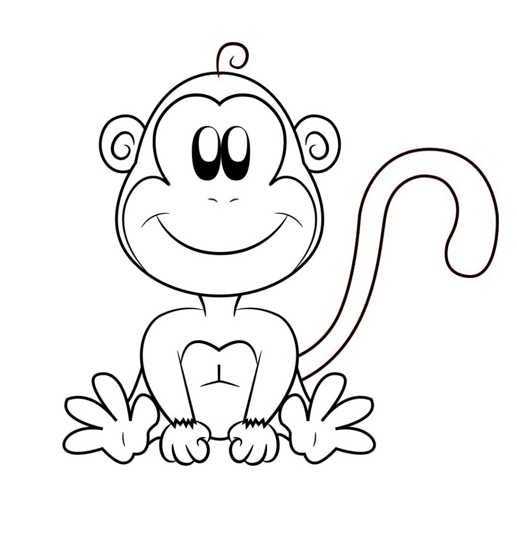 cartoon monkeys coloring pages - photo#47