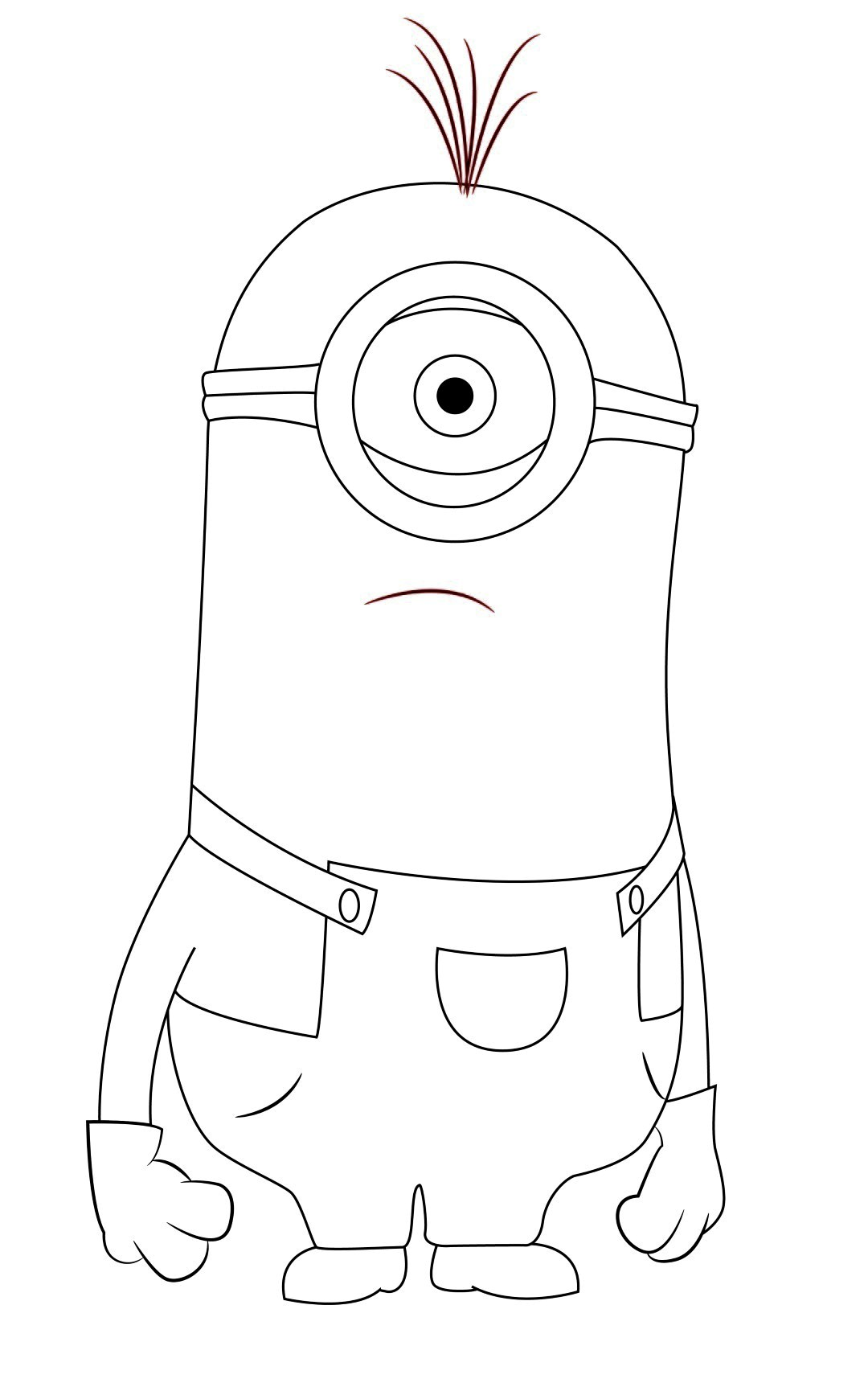 Kevin Dispicable Me Coloring Pages Despicable Me Minions Coloring Pages