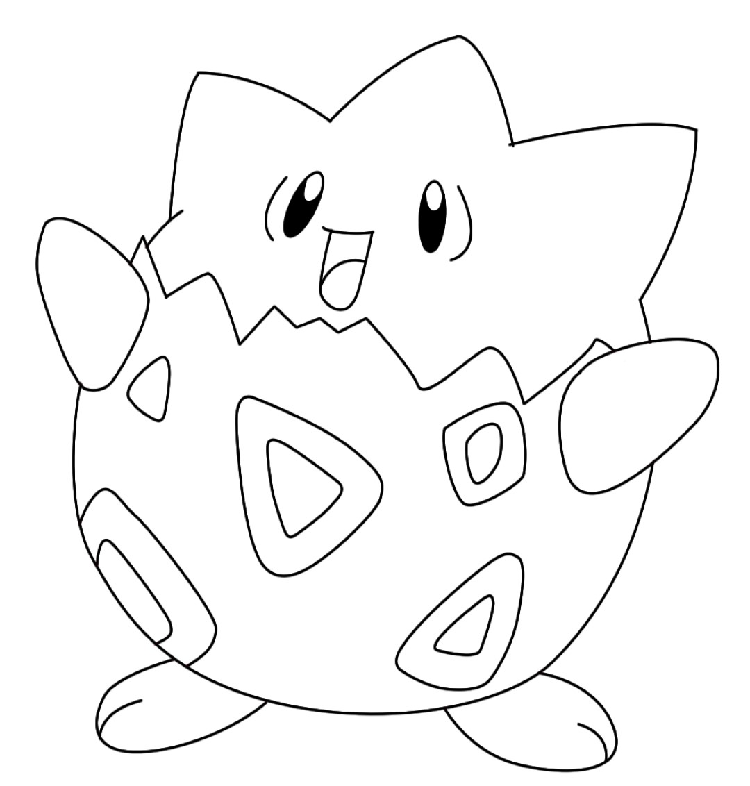 togepi coloring pages - photo#2