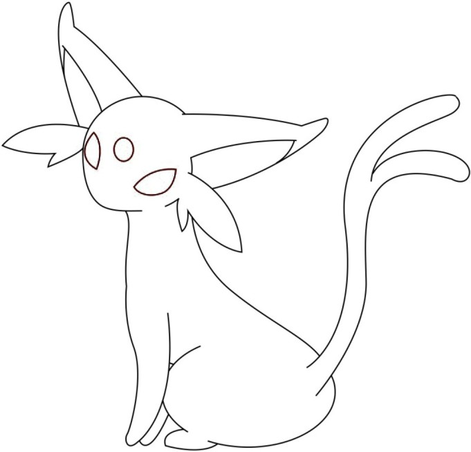 espeon pokemon coloring pages - photo#13