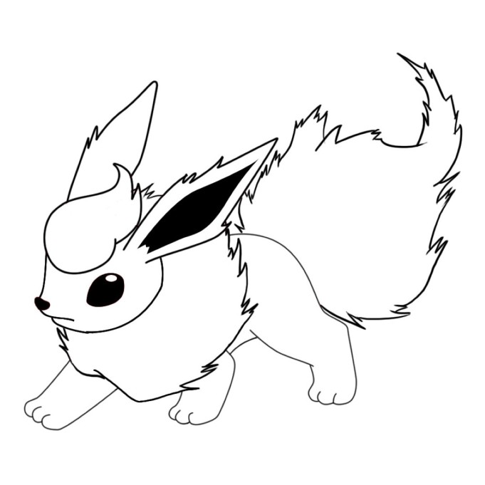 Pokemon Flareon Coloring Pages Images Pokemon Images Flareon Coloring Pages