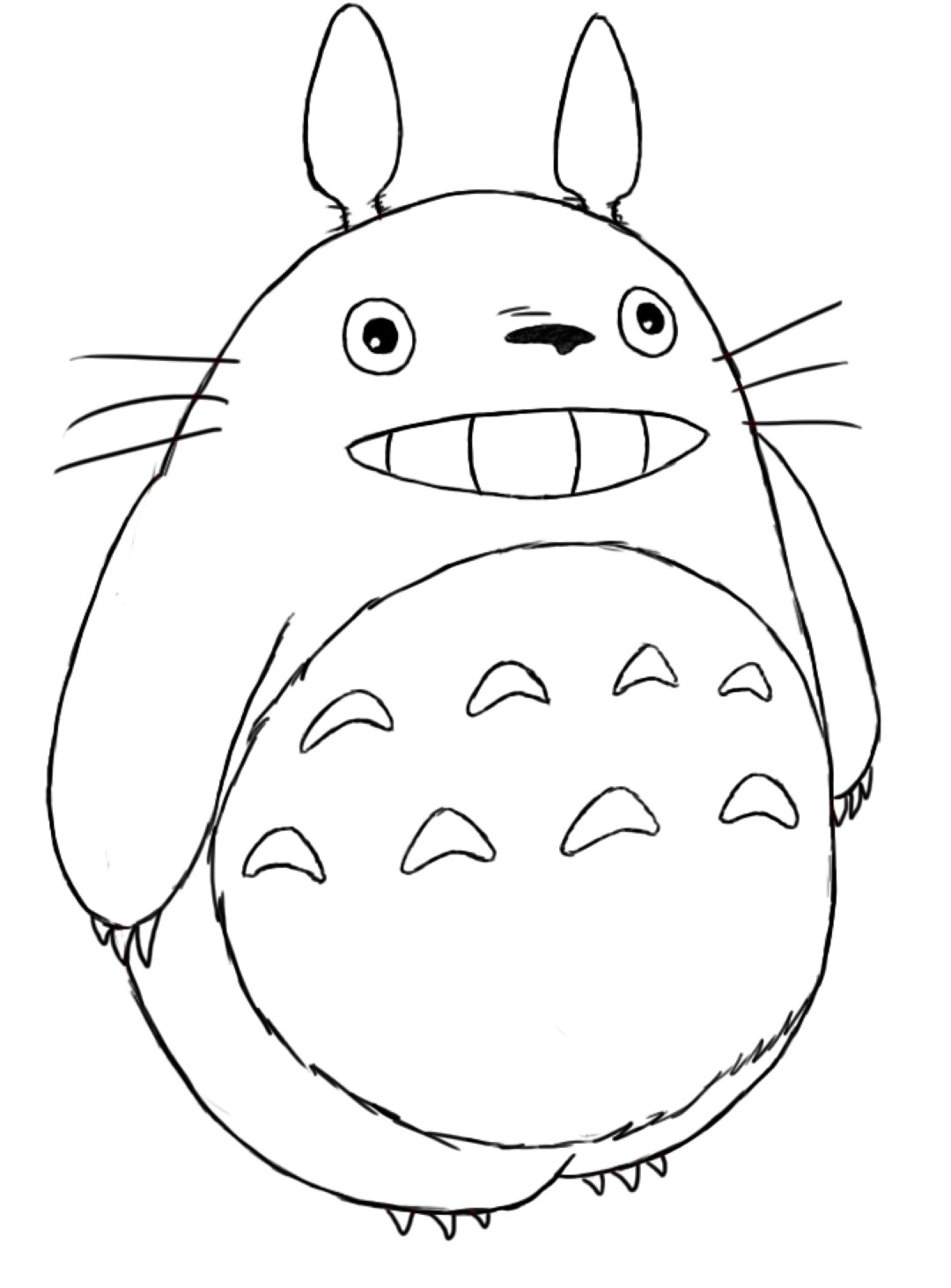 Totoro Coloring Pages All Disney Free
