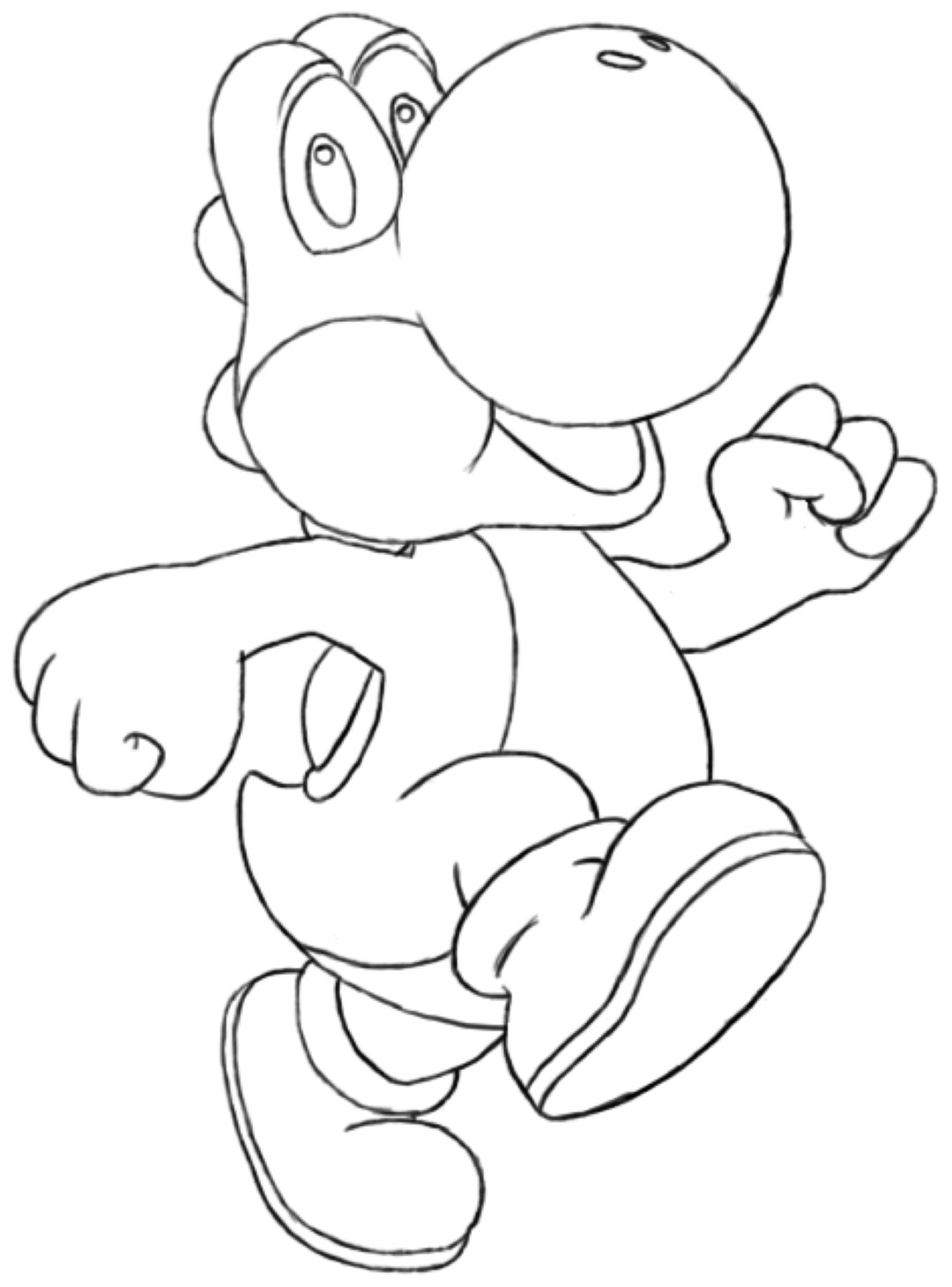 Coloring Pages For Yoshi : Free how to draw yoshi coloring pages